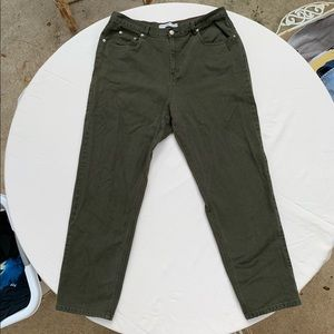 Army green Tommy Hilfiger high rise jeans